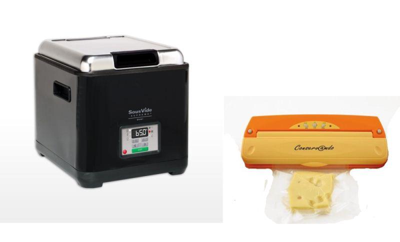 Прибор для приготовления SOUS VIDE SVS-09L+Вакуумный упаковщик  Conservando+Гофрированные пакеты для приготовления в вакууме 15х30см 100шт