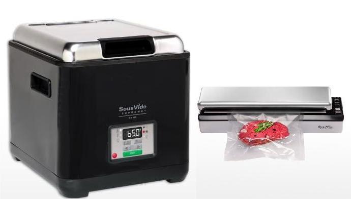 Прибор для приготовления SOUS VIDE SVS-09L+Вакуумный упаковщик  Sous Vide Supreme VS3000 +Комплект гофрированных пакетов в рулоне