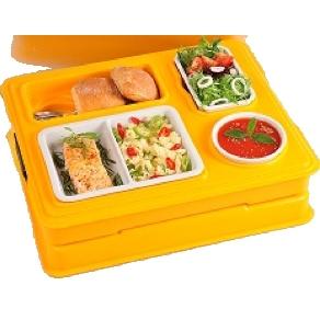 Термоподнос с замком и комплектом посуды с крышками Menu Mobile