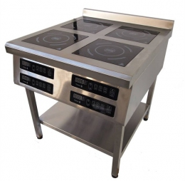 Плита индукционная 4-х конфорочная 900/3,5 кВт напольная
