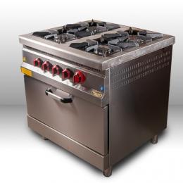 Плита 4-х конфорочная с духовым шкафом и газовым контроллером М015-4