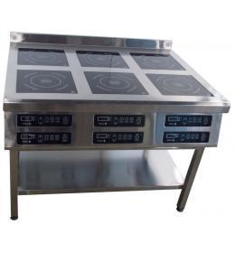 Плита индукционная 6ти конфорочная 2,2 кВт напольная
