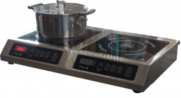 Плита индукционная 2-х конфорочная 2,2 кВт настольная