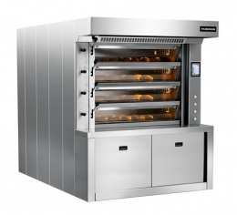 Подовая паротрубная печь на четыре яруса EТО 80 (с газовой горелкой)