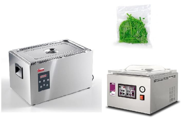 Вакуумный упаковщик С254 + Термопроцессор Softcooker S GN 1/1 + Гладкие пакеты для приготовления в вакууме 15х25 см, 100 шт.