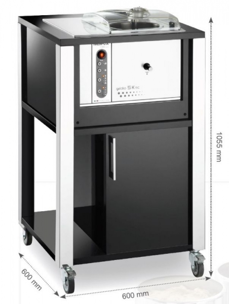 Машина на приготовления мороженого BLACK Gelato 5K T-Mobile