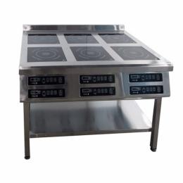 Плита индукционная 6ти конфорочная 800/2,2 кВт напольная