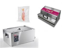 Вакуумный упаковщик Levac 4 + Термопроцессор SoftCooker S GN 1/1+ Гофрированные пакеты для вакуумной упаковки 15х30 см. 100 шт