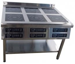 Плита индукционная 6ти конфорочная 800/3,5 кВт напольная