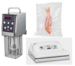 Softcooker Y09 +Вакуумный упаковщик Vacuum Family+ Гофрированные пакеты для вакуумной упаковки 100 шт
