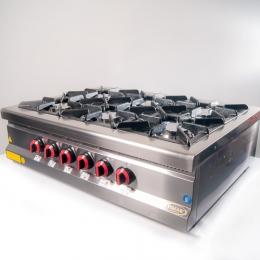 Плита 6-ти конфорочная настольная с газовым контроллером МО15-6N