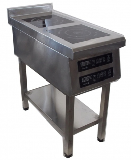 Плита индукционная 2-х конфорочная 900/2,2 кВт напольная