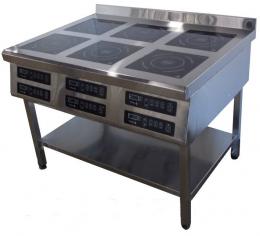 Плита индукционная 6ти конфорочная 3,5 кВт напольная
