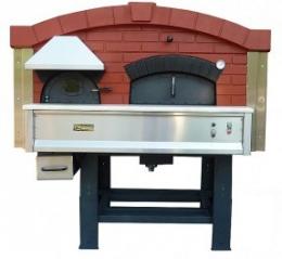 Дровяная печь для пиццы с вращающейся камерой DR 120