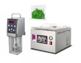 Вакуумный упаковщик С254 + Термопроцессор Softcooker Y09 + Гладкие пакеты для приготовления в вакууме 15х25 см, 100 шт.